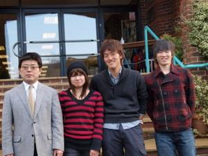 30期生 佐藤さん、岡山君、岡本さん