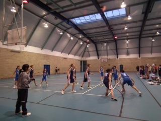 女子バスケットボール部の試合