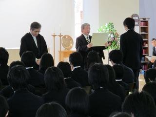 卒業終業礼拝