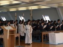 新しい1年の始まり。沢山の新入生が立教で迎えた第1日目、入学式の様子。