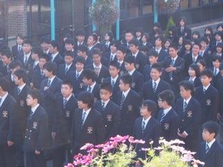 秋晴れのキャンパス ー 12名の新入生を迎えて新学期がスタートしました。