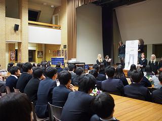 交換留学プログラムで本校に1週間滞在したミレースクールの生徒たちからメッセージが届きました。