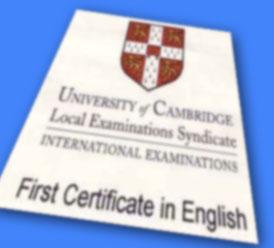 期末試験直前でも気合を入れて挑戦!ケンブリッジ英語検定。