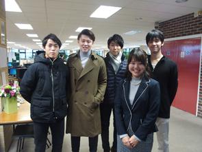 34期生 内田さん、神武君、桑田君、柴田君、黒田君