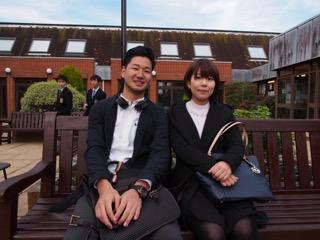 37期生 東山さん、柴田君〈10月23日来校〉