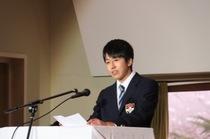 生徒会役員選挙 立候補者立会演説会の様子を画像でどうぞ。