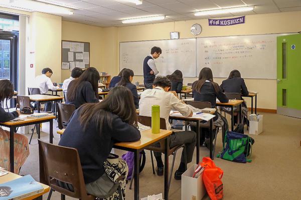日本と同様の充実した授業