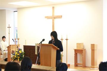 生徒たちが帰寮し2学期始業礼拝を執り行いました