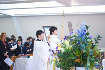 第2学期終業礼拝を執り行いました。