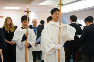 3学期始業礼拝を執り行いました。